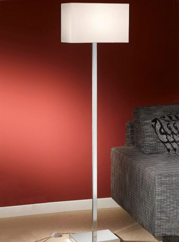 Franklite SL154/9881 Chrome Floor Lamp (Class 2 Double Insulated)